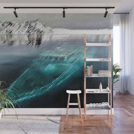 Antarctica Ghost Ship Landscape by Jeanpaul Ferro Wall Mural