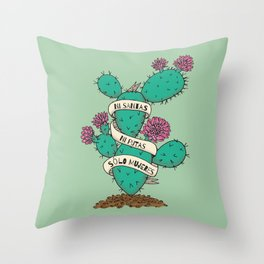 Ni Santas Ni Putas Solo Mujeres Throw Pillow