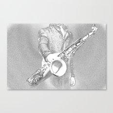 saxophone player... Canvas Print