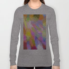 Abstract pink teal orange paint brushstrokes  Long Sleeve T-shirt