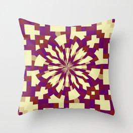 Raster kaleidoscope n° 5 Throw Pillow