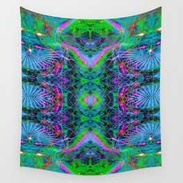 Techno Electric V (Ultraviolet) Wall Tapestry