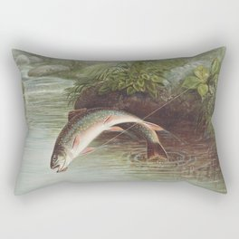 Leaping Brook Trout Rectangular Pillow