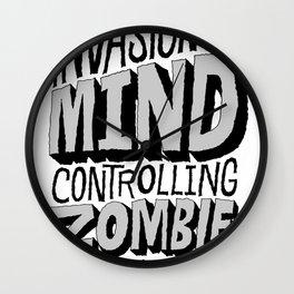 Zombie Parasites Wall Clock