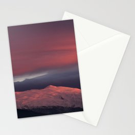 Lenticular clouds over Caballo mountain. Sierra Nevada National Park Stationery Cards