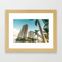 miami beach and downtown Framed Art Print