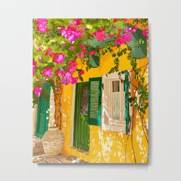 Living in the Sunshine. Always, Travel Sunny Summer Architecture Greece Spain Building Illustration Metal Print
