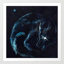 Wolf Star Art Print