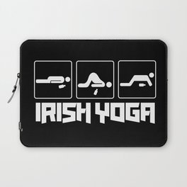 Irish Yoga T-Shirt Drink Beer St Patricks Day Shirt Laptop Sleeve