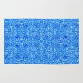 Blue pattern ... Rug