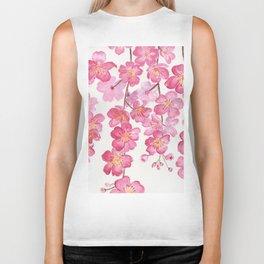 Weeping Cherry Blossom Biker Tank