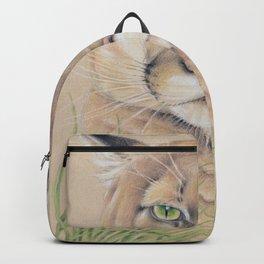 Cougar Puma Mountain Lion Grass Backpack