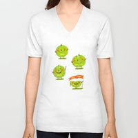 lime V-neck T-shirts featuring Lime emotions  by Lime