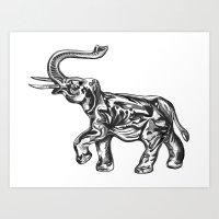 Glass Elephant Art Print