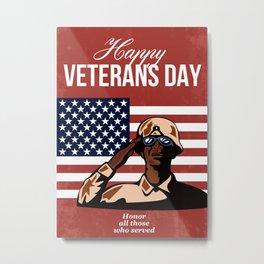 Veterans Day Greeting Card American Metal Print