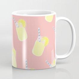Mason Jar Lemonade Pattern Coffee Mug