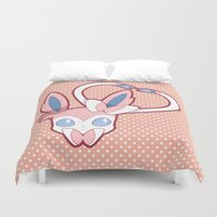 sylveon Duvet Covers featuring Attract by Burashi
