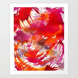 Swooping Abstraction Art Print