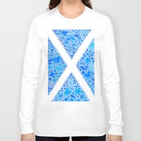 scotland Long Sleeve T-shirts featuring Oh, Flower of Scotland by Hayley Lang