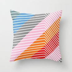 Diagonals Throw Pillow