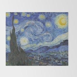 Van Gogh - Starry Night Throw Blanket