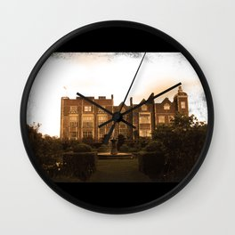 Hatfield house sepia photo Wall Clock