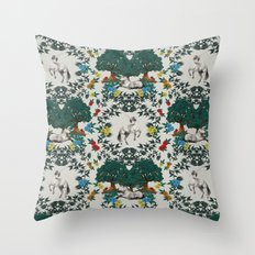 Medieval Tapestry Throw Pillow