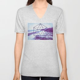 The Elements Geometric Nature Element of Water Unisex V-Neck