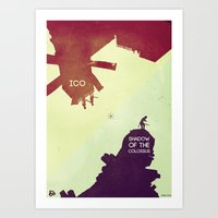 shadow of the colossus Art Prints featuring Shadow of the Colossus & Ico by andbloom