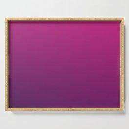PURPLE HAZE - Minimal Plain Soft Mood Color Blend Prints Serving Tray