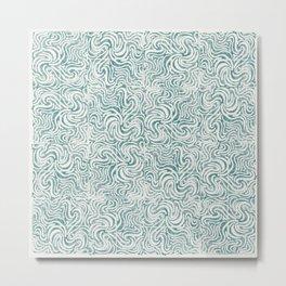 Squiggles Block Print Metal Print