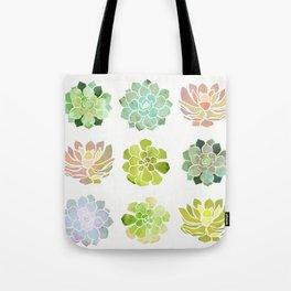 Spring Succulents Tote Bag