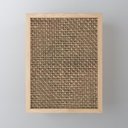 Hessian fabric Framed Mini Art Print