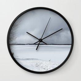 Serenity - Jackson Lake in April Wall Clock