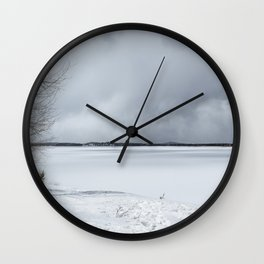 Serenity - Jackson Lake in April Wall Clock