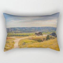 Badlands Overlook, Theodore Roosevelt NP, ND 27 Rectangular Pillow