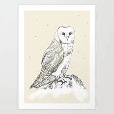 Mr Barnsby Owlsworth the 16th Art Print