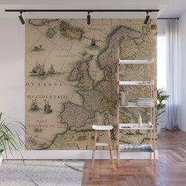 Antique Map Design Wall Mural