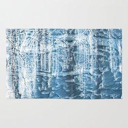 Steel blue nebulous wash drawing paper Rug