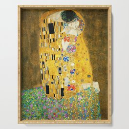 Gustav Klimt The Kiss Serving Tray