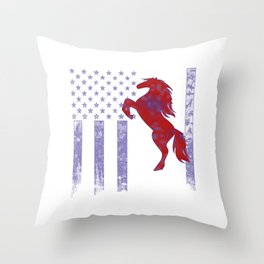 Horseriding Flag Throw Pillow