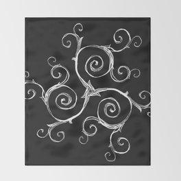 Magic Mandala Twisted Triskele Throw Blanket