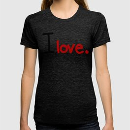 I love - Red T-shirt