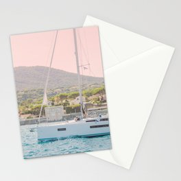 Nautical Travel Print Photography, Sailing Sailboat Seascape Ocean Summer Nature Landscape Europe Stationery Cards