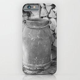 Old milk jug iPhone Case