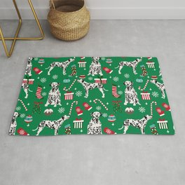Dalmatian dog breed christmas holiday presents candy canes dalmatians dogs Rug