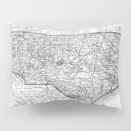 Vintage Map of North Carolina (1859) BW Pillow Sham