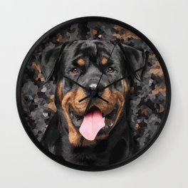 Rottweiler  - Metzgerhund Wall Clock