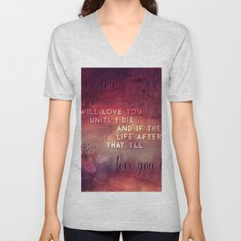 I'll love you Unisex V-Neck