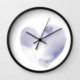 150527 Watercolour Shadows Abstract 142 Wall Clock